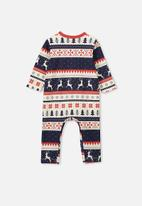 Cotton On - The long sleeve snap romper - multi