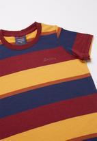 SOVIET - Armano boys short sleeve stripe tee - multi