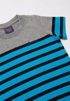 SOVIET - Gianni boys short sleeve - grey & blue