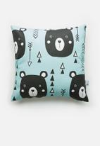 Sixth Floor - Beary cushion cover - blue & black