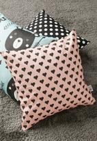 Sixth Floor - Princess cushion cover - pink & black