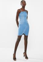 Sissy Boy - Boob tube dress - blue