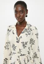 Vero Moda - Miris shirt dress - cream & black