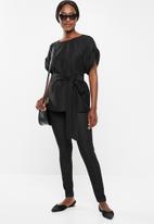Vero Moda - Mibiza short sleeve top - black