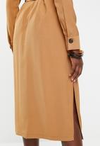 Vero Moda - Cleo calf dress - beige