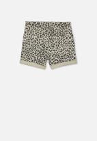 Cotton On - Camilla denim short - beige & black