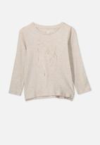 Cotton On - Penelope long sleeve tee - beige