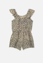 Cotton On - Kieri playsuit - beige & black