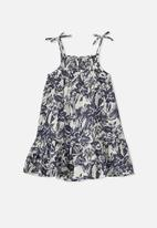 Cotton On - Lila sleeveless dress -  blue & cream