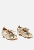 Cotton On - Mini bow ballet flat - gold