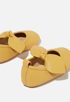 Cotton On - Mini bow ballet flat - yellow