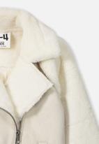 Cotton On - Olivia biker jacket - cream