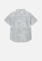 Cotton On - Resort short sleeve shirt - navy & white