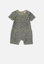 Cotton On - The short sleeve romper - khaki & black