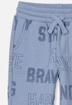 Cotton On - Heritage trackpant - blue