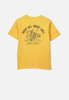 Cotton On - Max skater short sleeve tee - yellow
