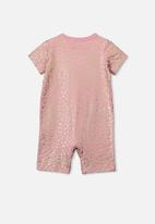 Cotton On - The short sleeve romper - pink & gold