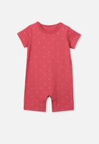 Cotton On - The short sleeve romper - red