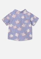 Cotton On - Mack short sleeve shirt - blue & white