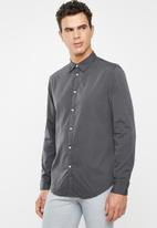 STYLE REPUBLIC - Button-up long sleeve shirt - charcoal