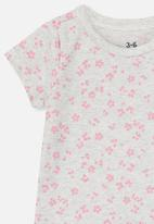 Cotton On - The short sleeve bubbysuit - grey & pink