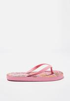 Cotton On - Printed flip flop - pink