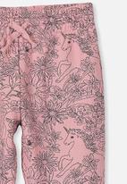 Cotton On - Keira cuff pant - pink & black