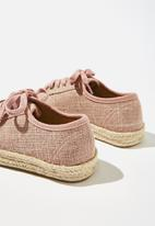 Cotton On - Lace up espadrille - pink
