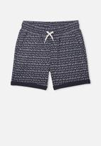 Cotton On - Henry slouch short -  navy & white