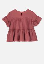 Cotton On - Frida frill top - rust
