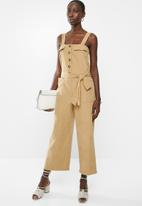 Superbalist - Button thru safari style jumpsuit - beige