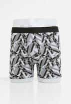 Jockey - B.o.t long leg 2 pack trunks - black & grey