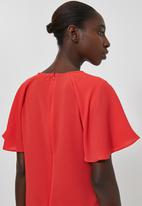 Superbalist - Frill sleeve tunic - red