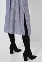 Superbalist - Blouson sleeve shirt dress - blue & white