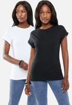 edit - 2 Pack round neck tees - black & white