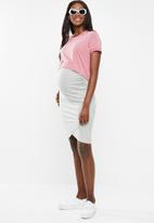 Cotton On - Maternity high low short sleeve top - pink