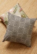 Hertex Fabrics - Geomaze cushion cover - coal
