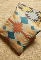 Hertex Fabrics - Tribal chic cushion cover - azurite