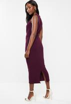 edit - Sleeveless dress with pleats - purple