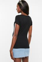 Cotton On - Maternity wrap front short sleeve top - black
