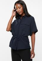 edit - Grown on sleeve utility shirt - navy