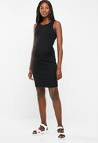 Cotton On - Maternity high neck midi dress - black