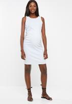 Cotton On - Maternity high neck midi dress - grey