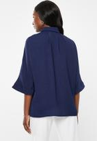 edit - Grown on sleeve shirt - navy