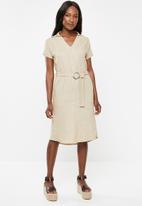 edit - Linen shirt dress - beige