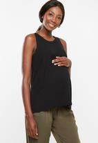 Cotton On - Maternity everyday girlfriend tank top - black