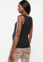 Cotton On - Maternity everyday gathered side tank top - black