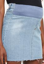 Cotton On - Maternity classic denim skirt - blue