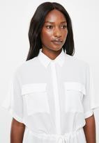 edit - Grown on sleeve utility shirt - white