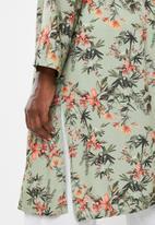 edit - Long kimono - green